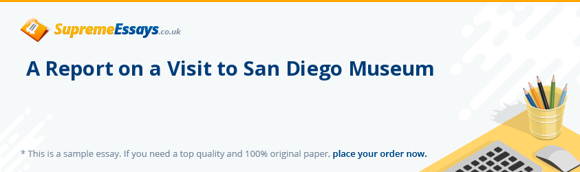 A Report on a Visit to San Diego Museum