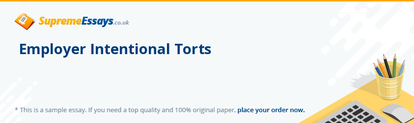 Employer Intentional Torts