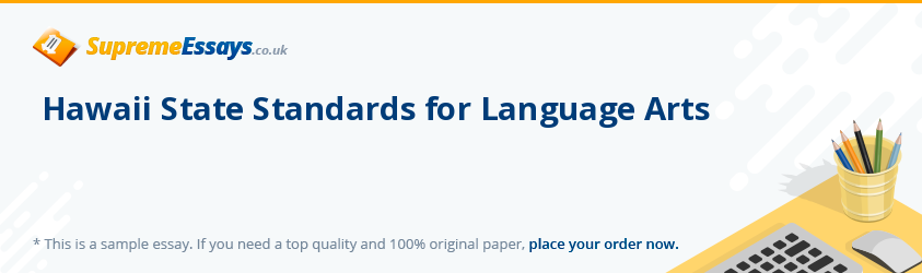 Hawaii State Standards for Language Arts