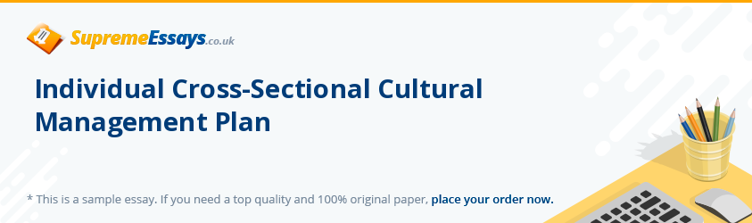 Individual Cross-Sectional Cultural Management Plan