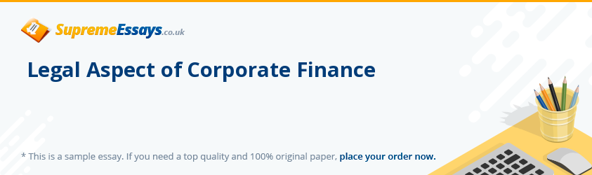 Legal Aspect of Corporate Finance