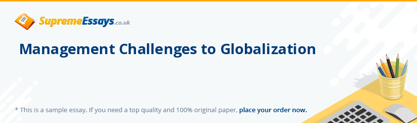Management Challenges to Globalization
