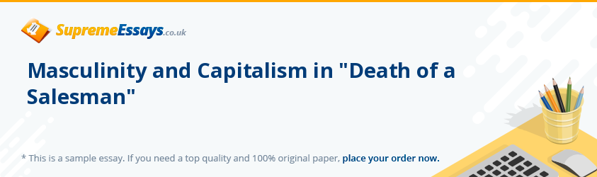 Masculinity and Capitalism in