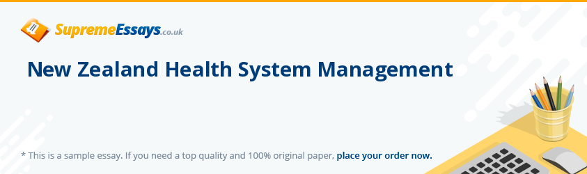 New Zealand Health System Management
