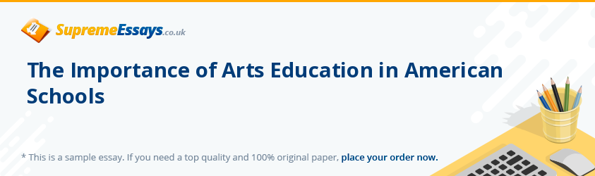 The Importance of Arts Education in American Schools