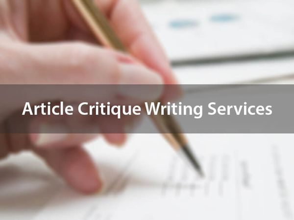 Article Critique Writing Services